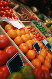 Fruits and Vegetables. Fruit and vegetables at a spanish market stand royalty free stock image