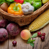 Fruits and vegetables Royalty Free Stock Images