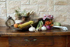 Fruits and vegetables. In the kitchen Royalty Free Stock Images