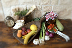 Fruits and vegetables. In the kitchen Stock Photos