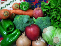 Fruits and vegetables. The Collection of fruits and vegetables Stock Photos