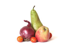 Fruits and Vegetables. Isolated on white Stock Image