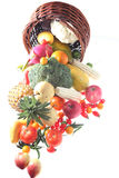 Fruits and vegetables Stock Images