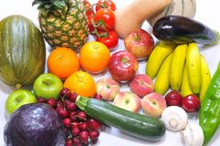 Fruits and vegetables. Royalty Free Stock Image
