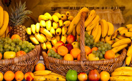 Fruits and vegetables. A group of fruits and vegetables Royalty Free Stock Photos