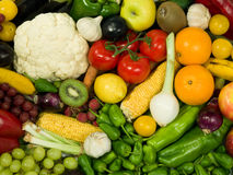 Fruits & Vegetables. Healthy Eating series: Fruits & Vegetables assortment Royalty Free Stock Photography