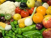 Fruits & Vegetables. Healthy Eating series: Fruits & Vegetables assortment Royalty Free Stock Photos