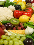 Fruits & Vegetables. Healthy Eating series: Fruits & Vegetables assortment Royalty Free Stock Image