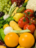 Fruits & Vegetables. Healthy Eating series: Fruits & Vegetables assortment Stock Photos