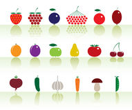 Fruits&vegetables Stock Images