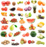 Fruits and vegetables. Studio isolated over white Stock Photo