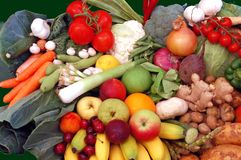 Fruits and Vegetables. Mixture of fresh fruits and vegetables