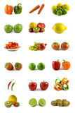 Fruits and vegetables. Fresh vegetables and fruits on white background Stock Image