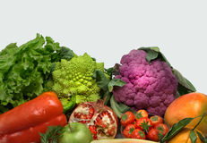 Fruits and vegetables assembled Royalty Free Stock Images