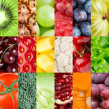 Fruits and vegetables background Stock Photography