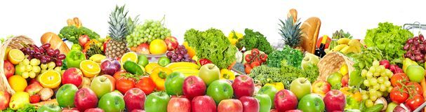 Fruits and vegetables background royalty free stock images