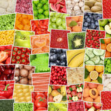Fruits and vegetables background with tomatoes, apples, oranges Royalty Free Stock Image