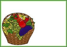 Fruits and vegetables in the basket. stock image