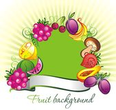 Fruits ,vegetables and berries vector background Royalty Free Stock Images