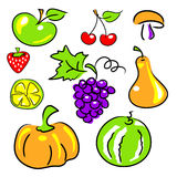 Fruits, vegetables, berries Royalty Free Stock Images