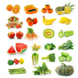 Fruits  vegetables with beta carotene. Royalty Free Stock Photos