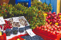 Fruits and Vegetables at City Market in Riga Stock Photo