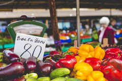 Fruits and Vegetables at City Market in Riga Stock Photography