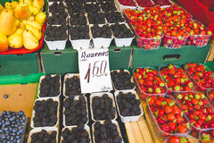Fruits and Vegetables at City Market in Riga Stock Images