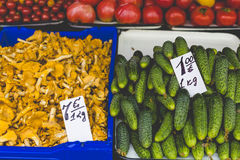Fruits and Vegetables at City Market in Riga Royalty Free Stock Photography