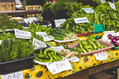 Fruits and Vegetables at City Market in Riga Stock Image