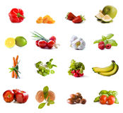 Fruits and vegetables collage Stock Images