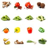 Fruits and vegetables collage royalty free stock image