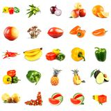 Fruits and vegetables collage, stock image