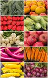 Fruits and Vegetables Collage Royalty Free Stock Photos