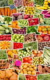 Fruits and Vegetables Collage Royalty Free Stock Photo