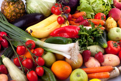 Fruits and vegetables. Collection of fruits and vegetables Royalty Free Stock Photo