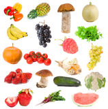 Fruits and vegetables collection Royalty Free Stock Photography