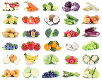 Fruits and vegetables collection apples oranges bell pepper grapes bananas vegetable food isolated royalty free stock photography