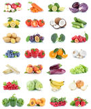 Fruits and vegetables collection apples oranges bell pepper strawberries bananas vegetable food isolated stock images