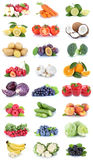 Fruits and vegetables collection apples oranges tomatoes bananas Royalty Free Stock Photography