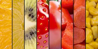 Fruits And Vegetables - Collection royalty free stock image