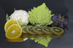 Fruits with vegetables Stock Photo