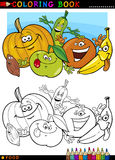 Fruits and vegetables for coloring Stock Image