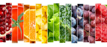 Fruits and vegetables concept Royalty Free Stock Images
