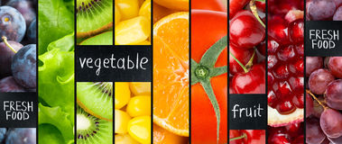 Fruits and vegetables concept Stock Photos