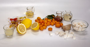 Ingredients for non-alcoholic cocktails Stock Image