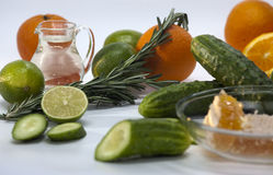 Ingredients for non-alcoholic cocktails Stock Photos