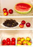 Fruits and vegetables in cooler Royalty Free Stock Images