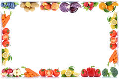 Fruits and vegetables copyspace frame border copy space apple or royalty free stock image