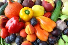 Fruits and vegetables. Royalty Free Stock Photos